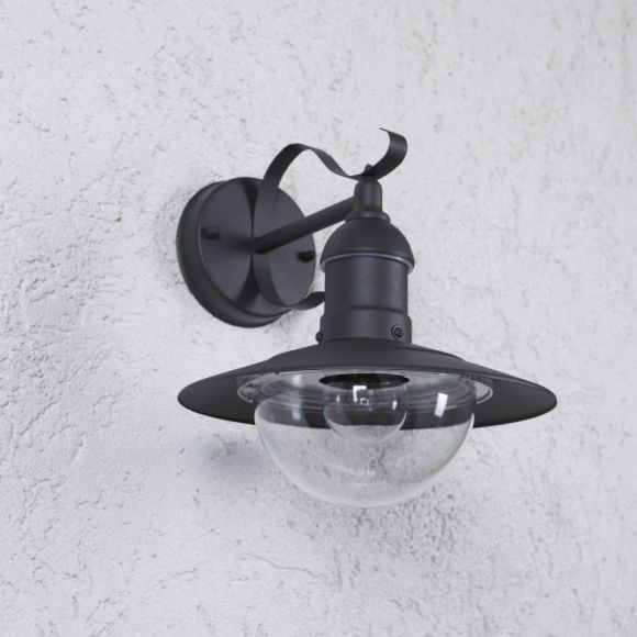Wandleuchte Außem, rustikal, anthrazit, E27 LED einsetzbar