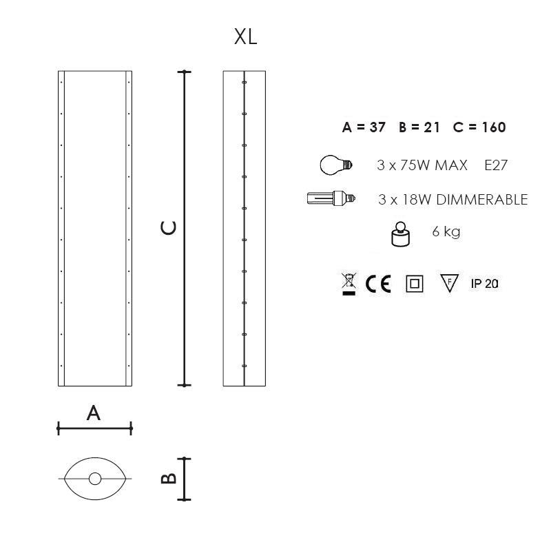 Designer Stehleuchte Dafne von Slamp - in 2 Varianten