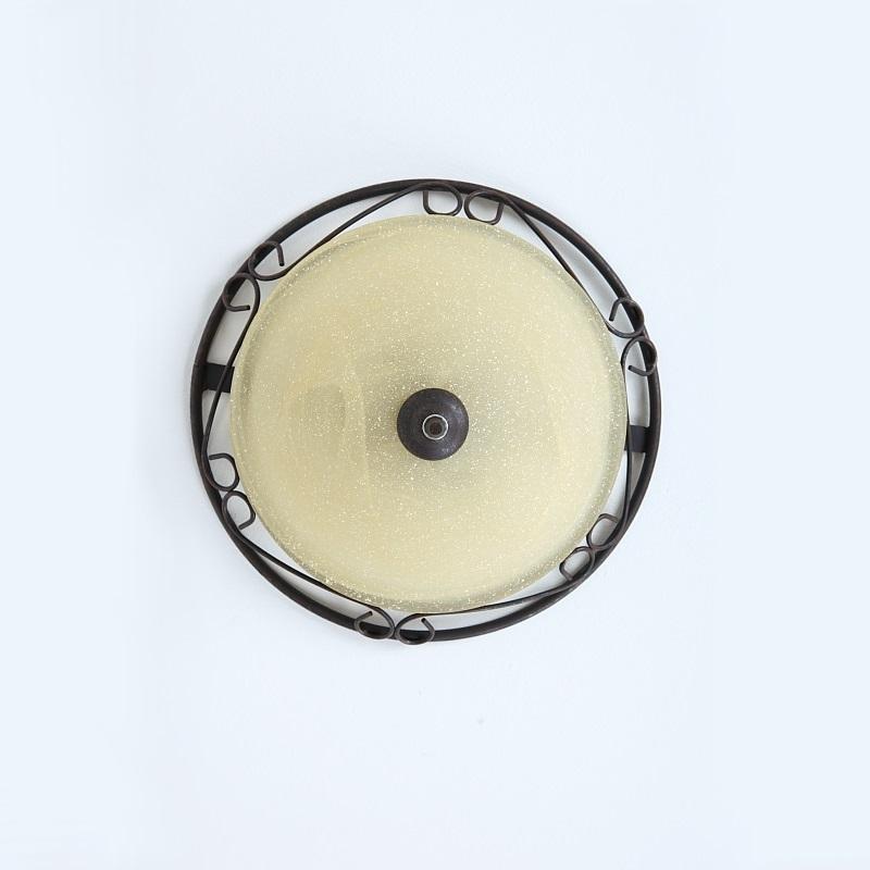 LHG Rostfarbige Deckenleuchte Rustica, Ø 37cm, inklusive 2x E27 40Watt Leuchtmittel