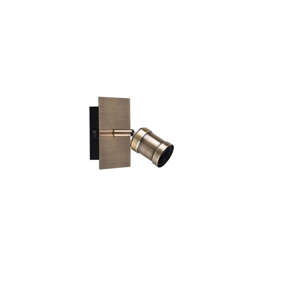 Wandleuchte, Altmessing, verstellbar, E14 LED geeignet, 1-flammig