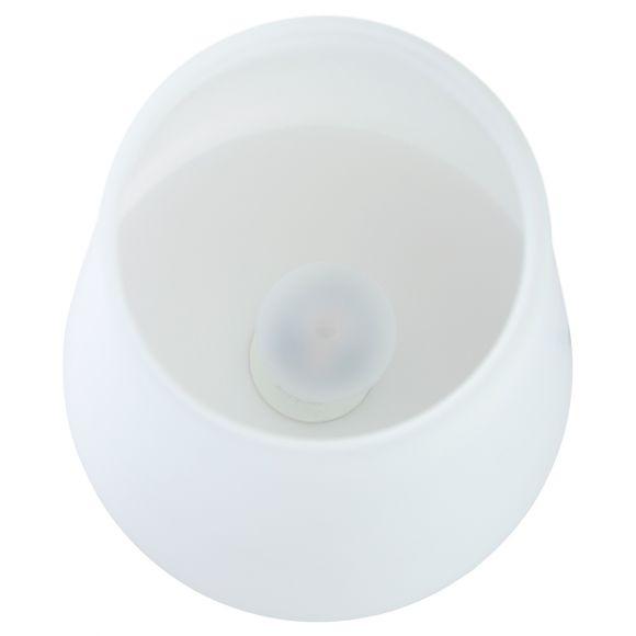 4-stufig dimmbare Tischleuchte mit weißem Glasschirm, Nachttischlampe klassisch, kegelförmig, silber o. bronze, E14