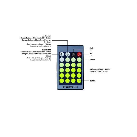 A60 E27 LED-Leuchtmittel 7W CCT-Lichtmanagement inkl Fernbedienung