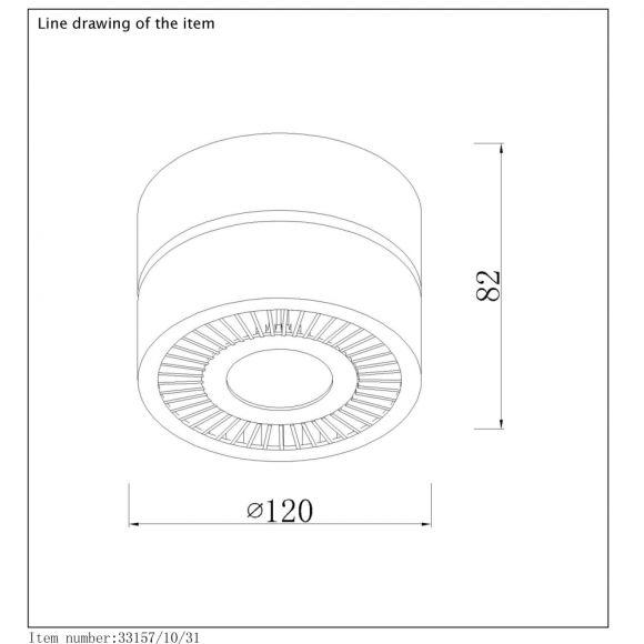 Deckenstrahler Mitrax von Lucide in drei Varianten