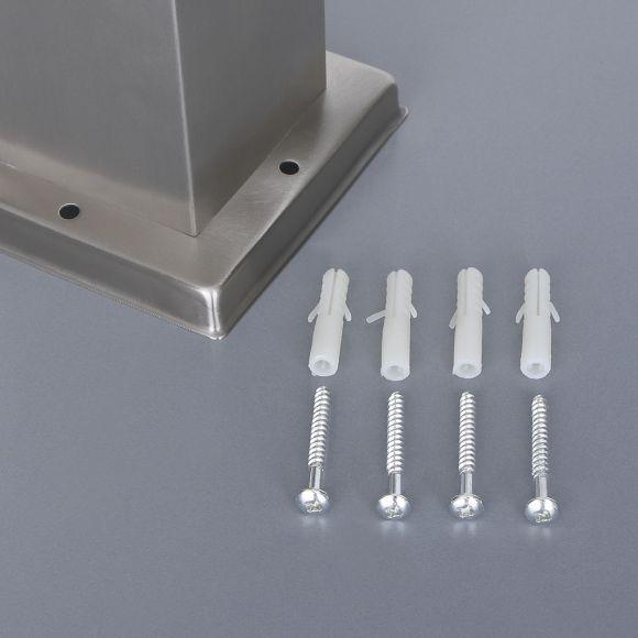 Edelstahl Steckdosensäule mit Timer, 2 Steckdosen und Spitzdach IP44 spritzwassergeschützt - Höhe 35 cm Außensteckdose