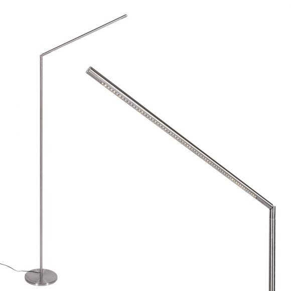 LED Stehleuchte, zum Lesen, verstellbar, Fußschalter, LED neutralweiß