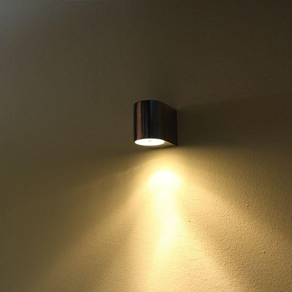 LHG LED-Wandleuchte aus Aluminium - Inklusive GU10 LED 1 x 7 Watt