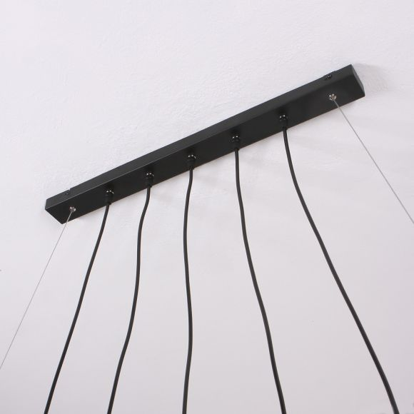LHG Esstisch Pendelleuchte, Echtholz, 5-flammig, Holz-Balken, Astlampe, Hängeleuchte mit o. ohne LED-Leuchtmittel