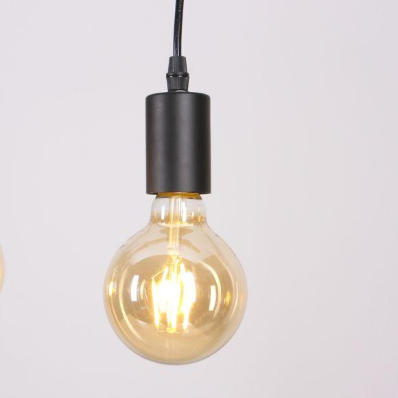 LHG Esstisch Pendelleuchte, Echtholz, 5-flammig, Holz-Balken, Astlampe, Hängeleuchte inkl. 5x 4W LED-Leuchtmittel