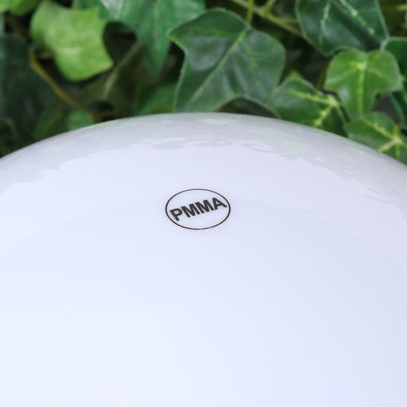 LHG Kugelleuchte 50cm für Außen ohne Stromkabel, Garten Kugellampe aus weißem Kunststoff, IP44 Outdoor geeignet, E27 Fassung