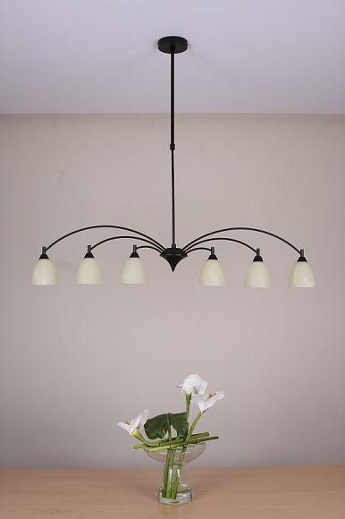 pendelleuchte in braun rostfarben h he einstellbar wohnlicht. Black Bedroom Furniture Sets. Home Design Ideas