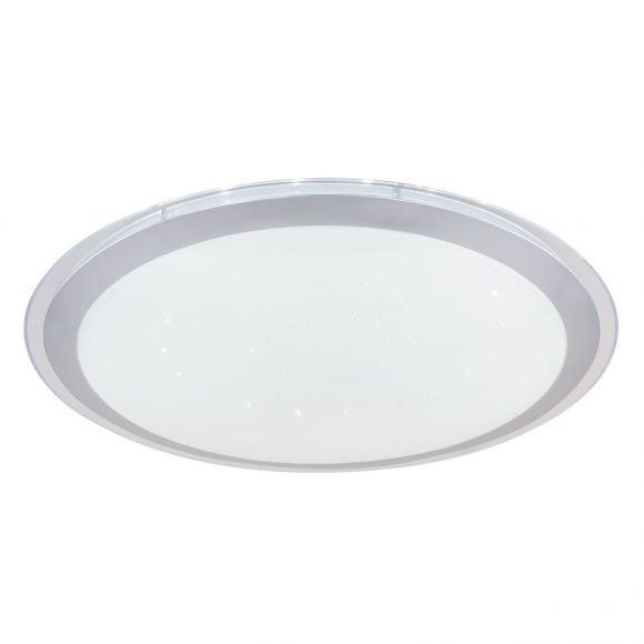 Smart Home runde LED Deckenleuchte mit CCT-Lichtfarbsteuerung & Fernbedienung aus Acryl klarNachtlicht Memory Funktion kompatibel mit Google-Home und Alexa Sternenhimmel Decor inkl. Batterie automatischem Farbwechsel RGB Deckenlampe ø 53 cm