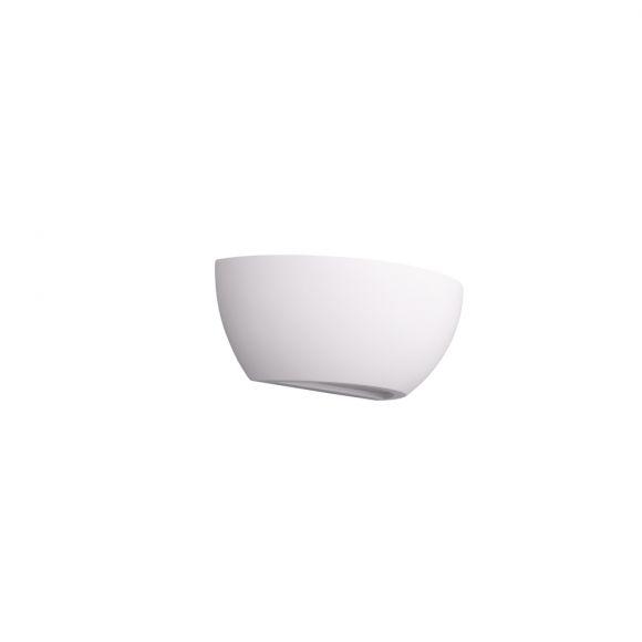 Wandleuchte, Gips, weiß, Up&Down, B 24,5 cm, für E14 LED Leuchtmittel