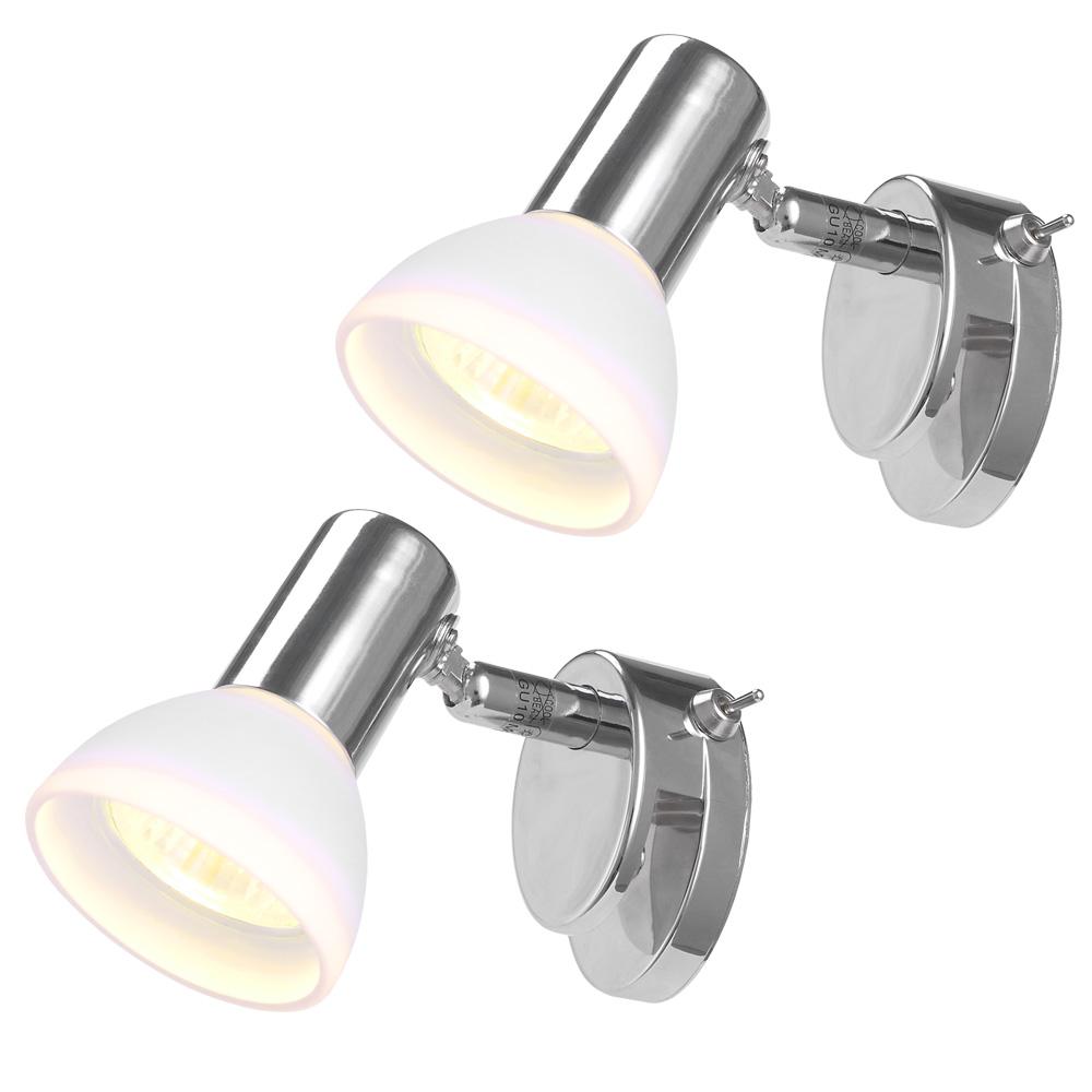Badezimmer Spiegelleuchte   Badezimmer Spiegelleuchte 2er Set Aquatic Mit Glas Wohnlicht