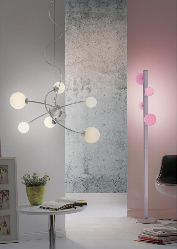 LED Stehleuchte, H153cm, nickel-weiß, Smart Home, Lichtfarbe steuerbar