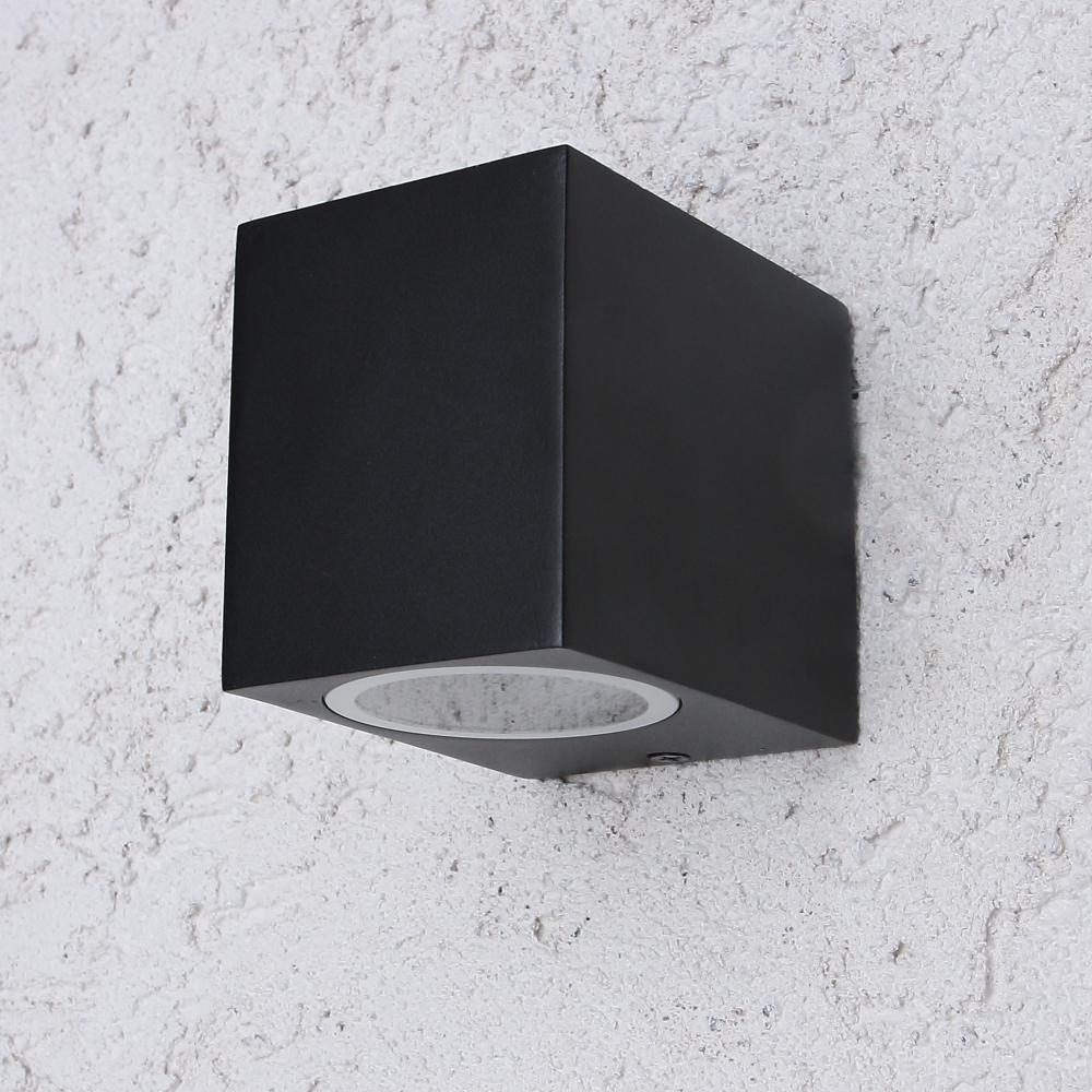 LED Wandleuchte Außen, Downlight, schwarz, inkl 5 W LED