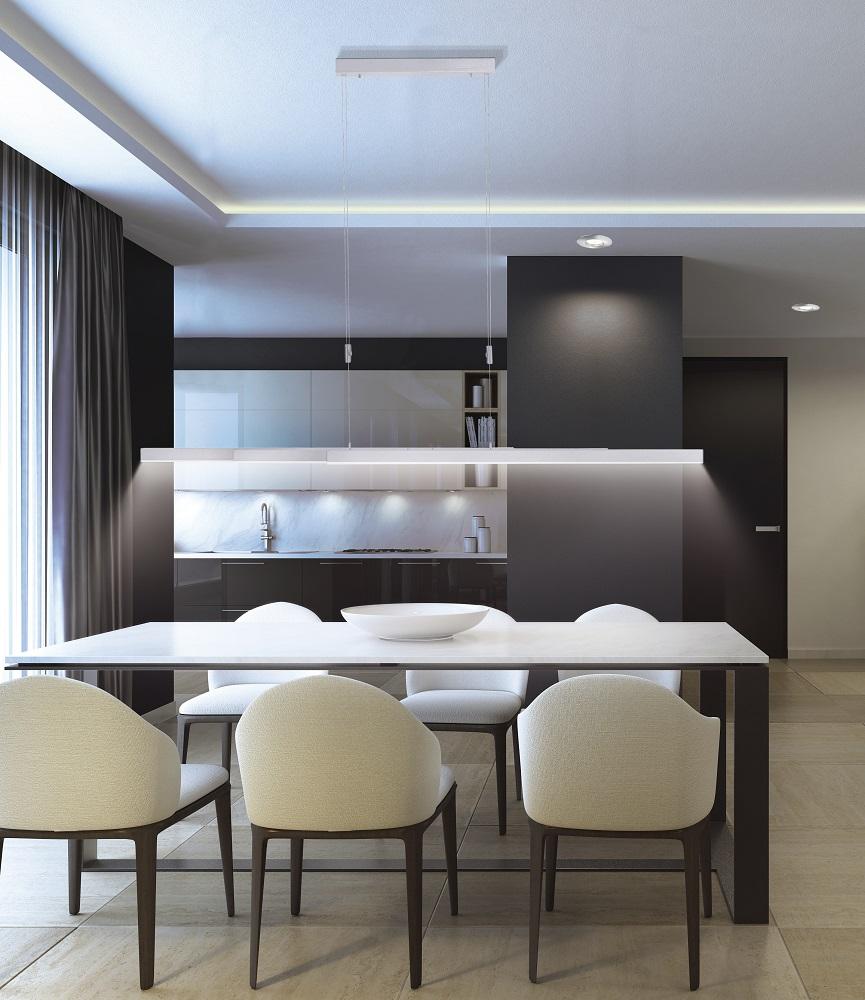 LED-Pendelleuchte, Aluminium, verstellbar, Touchdimmer