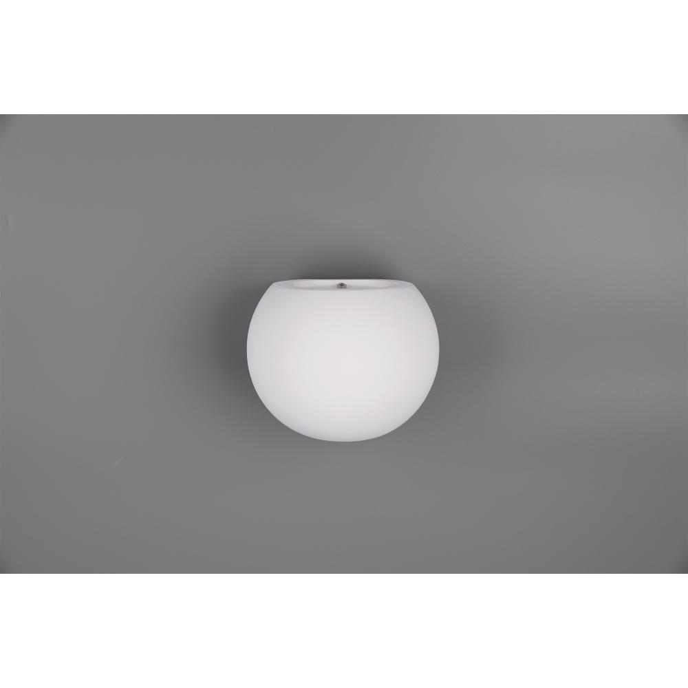 Wandleuchte, Gips, Up & Down, kugelförmig, LED Leuchtmittel einsetzbar
