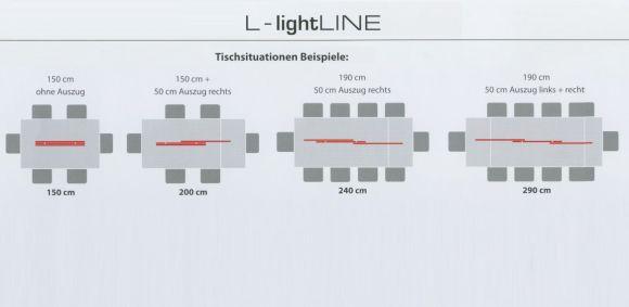 Bankamp Pendelleuchte L-lightLINE Nickel-matt/Chrom