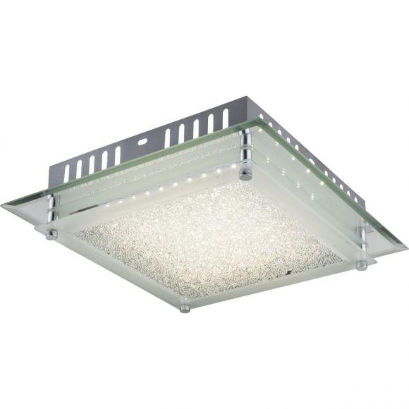 günstige Kristall LED Deckenleuchte, quadratisch, 28x28cm, modern, Design, 1000Lumen