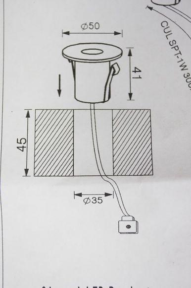 LED Einbaustrahler, 5-er Set, rund, Edelstahl, für Aussen und Innen