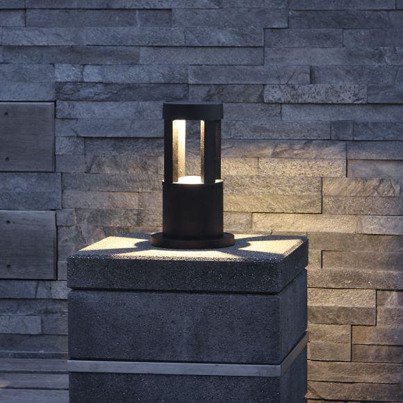 LED-Pollerleuchte, 10W, schwarz + Gratis Spannungsprüfer