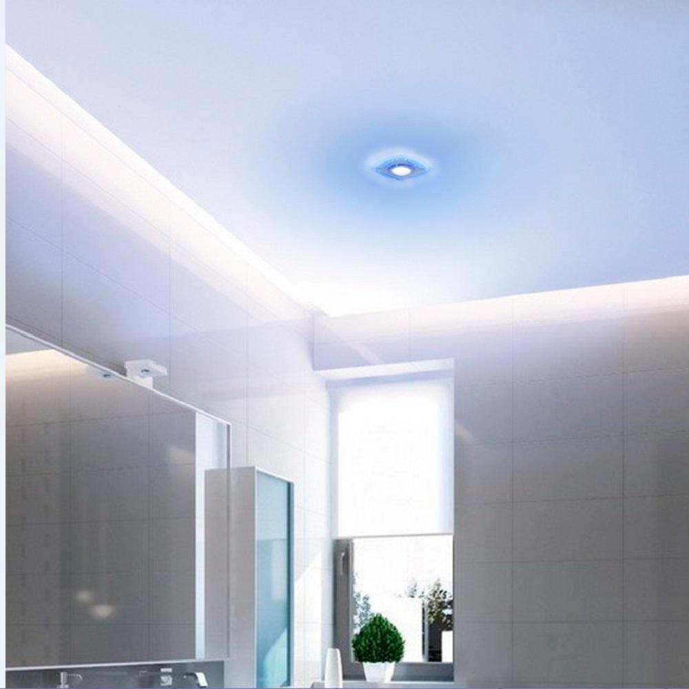 Einbaustrahler, LED-Hintergrundbeleuchtung, 5-er Set, schwenkbar