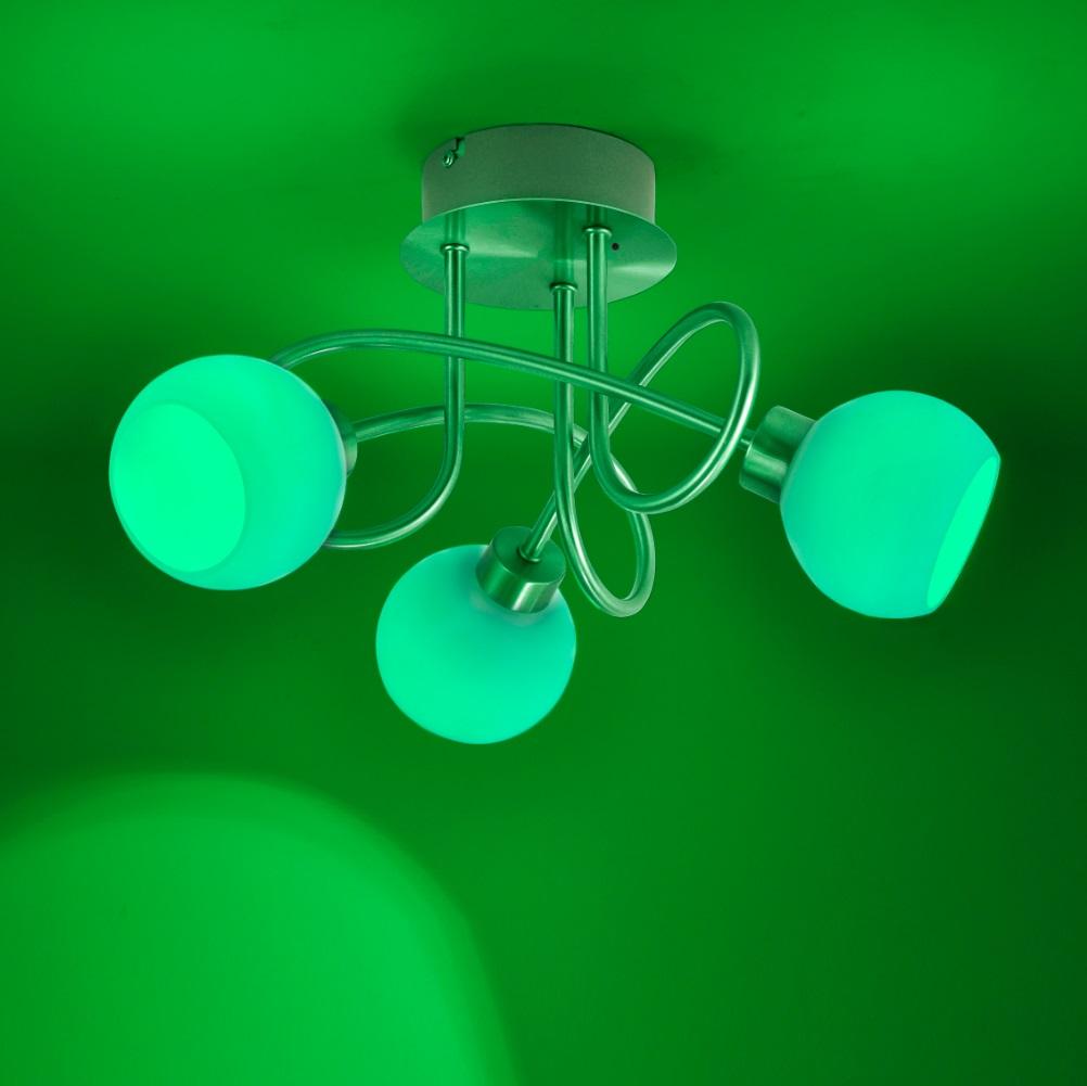 LED Deckenleuchte, 3-flammig, Fernbedienung, Farbwechsel