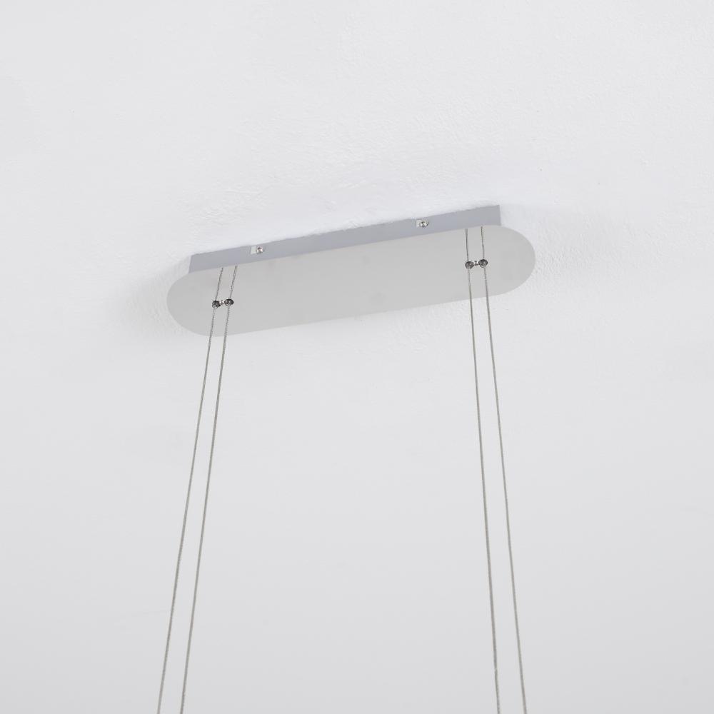 LED-Pendelleuchte in Chrom, mit 4-fach Switch-Dimmer