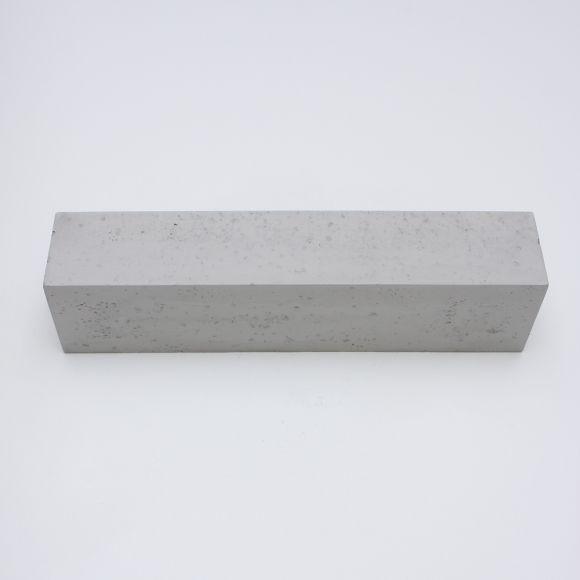 Gipswandleuchte, Beton-Optik, 50 cm lang, hellgrau o. dunkelgrau