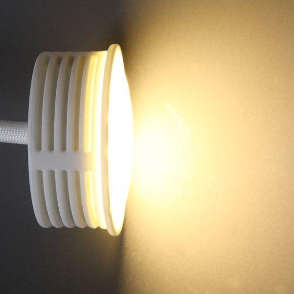 LHG LED Einbauleuchte 3er Set, rund, graphit, inkl. LED schalterdimmfähig