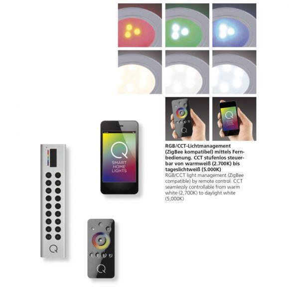 LED Einbauleuchte Q-Elli rund, Erweiterung, Smart Home, Fernbedienung, RGBW