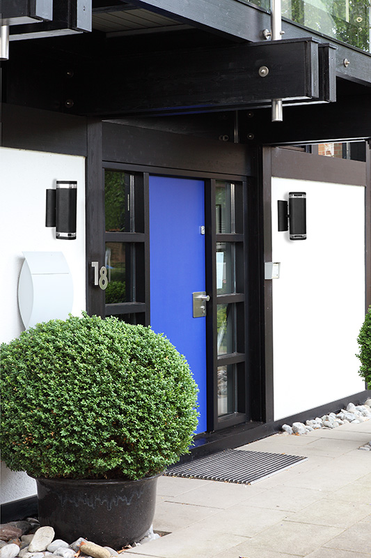 LHG Wandleuchte Außen, Up & Down, Wandstrahler, H 24 cm, weiß