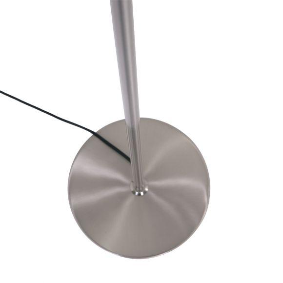 LED Stehleuchte, Leselampe, Nickel-matt, höhenverstellbar, Touchdimmer