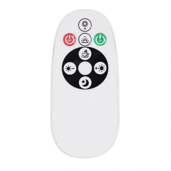 Smart Home LED Deckenleuchte mit CCT-Lichtfarbsteuerung & Fernbedienung matt länglich 2 Arme geschwungen CCT APP kompatibel mit Google-Home und Alexa Deckenlampe weiß