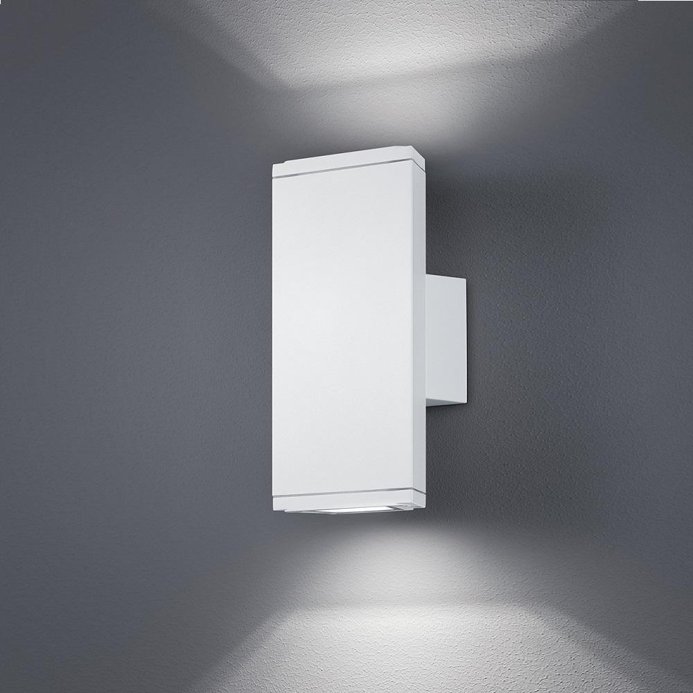 up down led wandleuchte f r au en aluminium wei wei wohnlicht. Black Bedroom Furniture Sets. Home Design Ideas