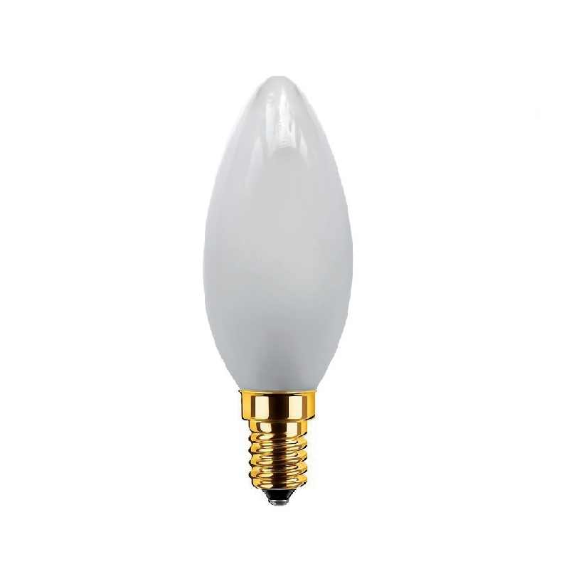 c35 led kerze matt 3 5 watt e14 200lumen dimmbar wohnlicht. Black Bedroom Furniture Sets. Home Design Ideas