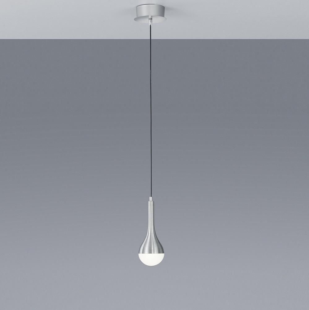 1 flg led pendelleuchte drops in alu geb rstet glas wei wohnlicht. Black Bedroom Furniture Sets. Home Design Ideas