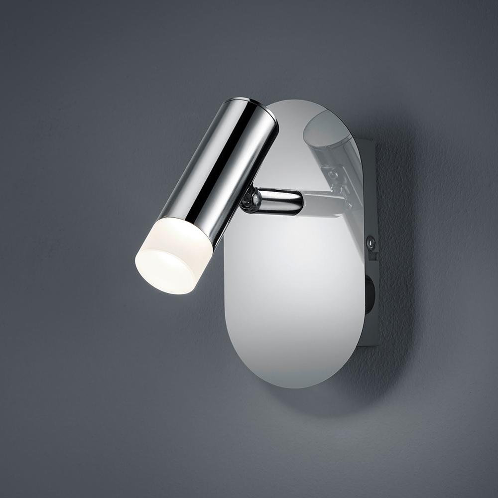 1 flg led wandleuchte zidane in chrom mit schalter. Black Bedroom Furniture Sets. Home Design Ideas