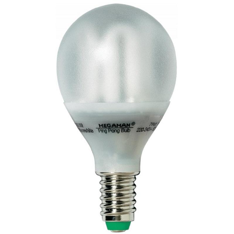 energiesparlampe ping pong e14 7w transparent oder opal. Black Bedroom Furniture Sets. Home Design Ideas