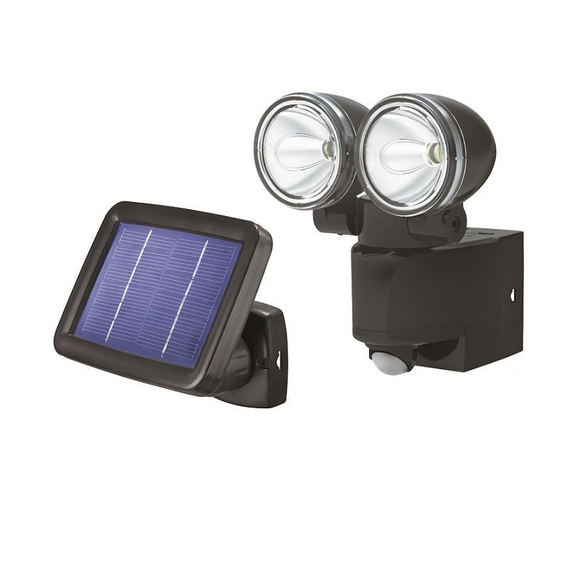 2er led solar strahler mit 90 bewegungsmelder in schwarz schwarz wohnlicht. Black Bedroom Furniture Sets. Home Design Ideas