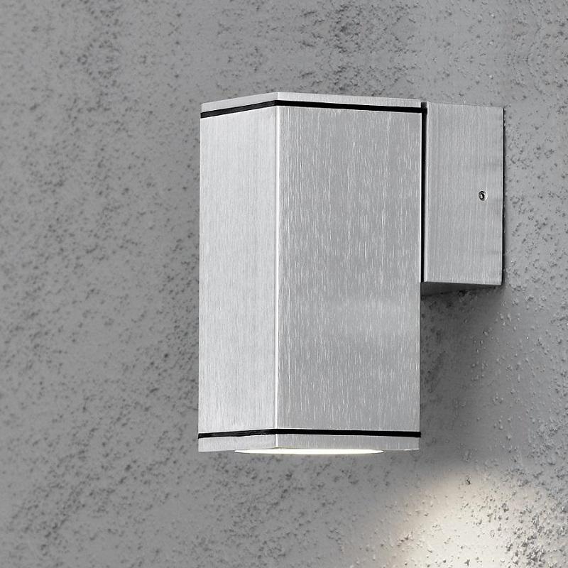 wandstrahler aus aluminium beleuchtung f r den au enbereich als downlight wohnlicht. Black Bedroom Furniture Sets. Home Design Ideas
