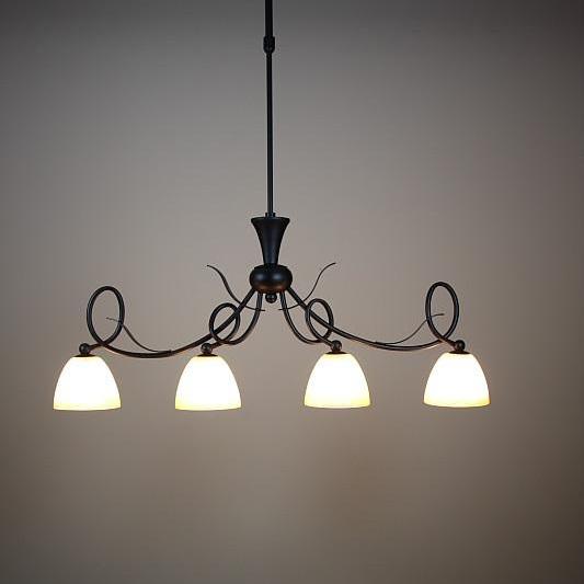 4 flammige pendelleuchte im landhausstil inkl leuchtmittel wohnlicht - Wohnzimmer lampe landhausstil ...