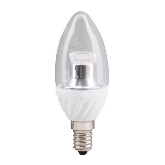 e14 led kerzenlampe klar c35 4 watt wohnlicht. Black Bedroom Furniture Sets. Home Design Ideas