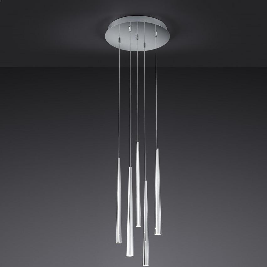 5 flg led pendelleuchte rondell lucid wohnlicht. Black Bedroom Furniture Sets. Home Design Ideas