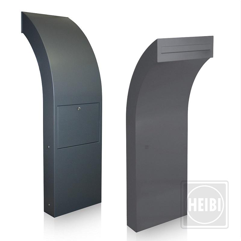 briefkastens ule h he 122cm aus aluminium pulverbeschichtet in steingrau oder anthrazit wohnlicht. Black Bedroom Furniture Sets. Home Design Ideas