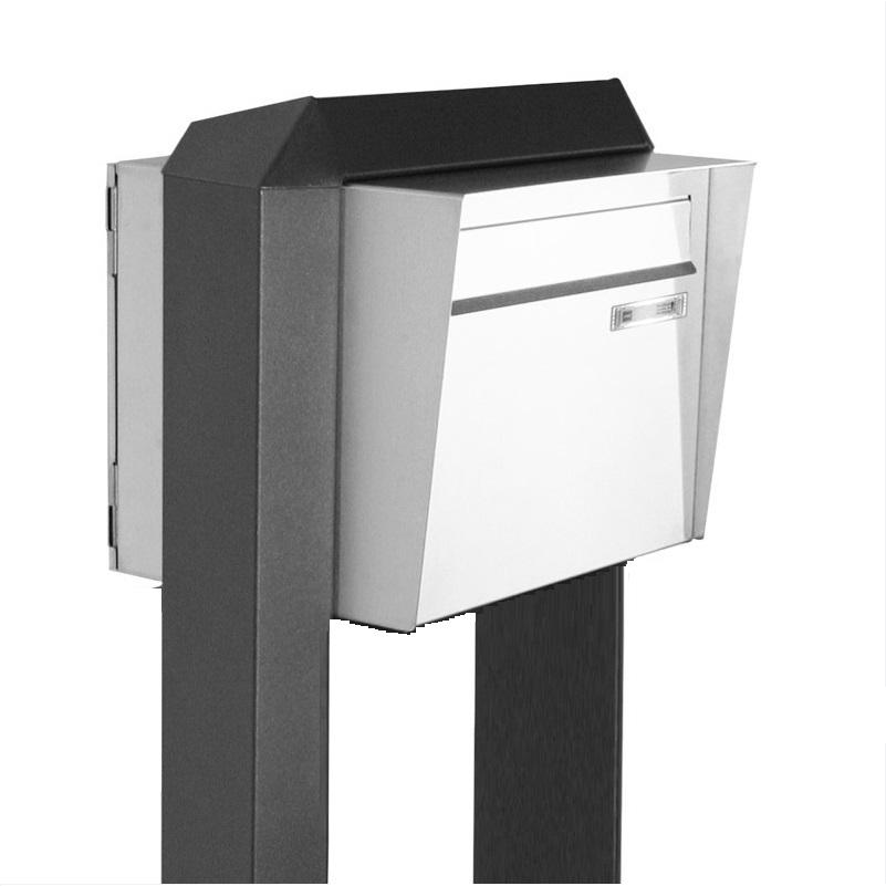 briefkasten modul aus v2a edelstahl mit einwurfklappe wohnlicht. Black Bedroom Furniture Sets. Home Design Ideas