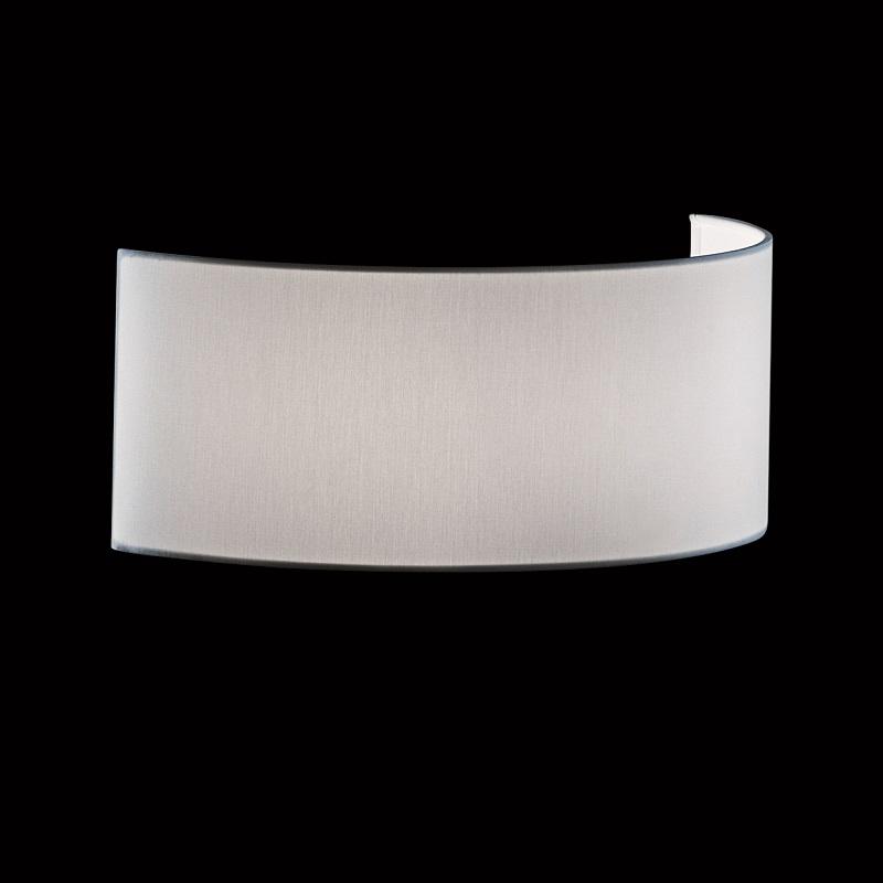 lampenschirm zur wandleuchte stoff weiss wohnlicht. Black Bedroom Furniture Sets. Home Design Ideas