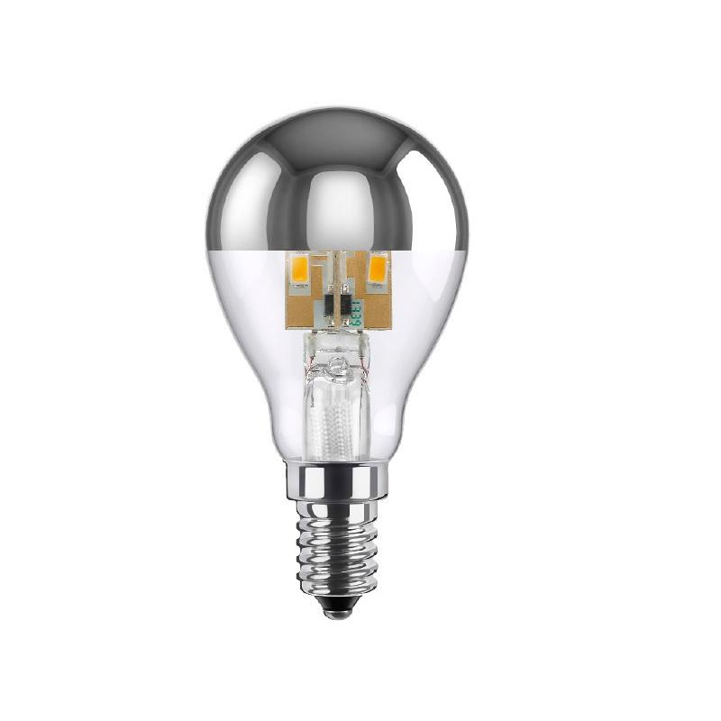 d45 led 3 5 watt e14 spiegelkopf silber tropfen dimmbar wohnlicht. Black Bedroom Furniture Sets. Home Design Ideas