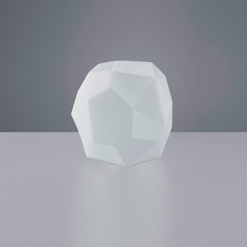 tischleuchte aus wei em glas 1 flammig e14 max 40watt wohnlicht. Black Bedroom Furniture Sets. Home Design Ideas