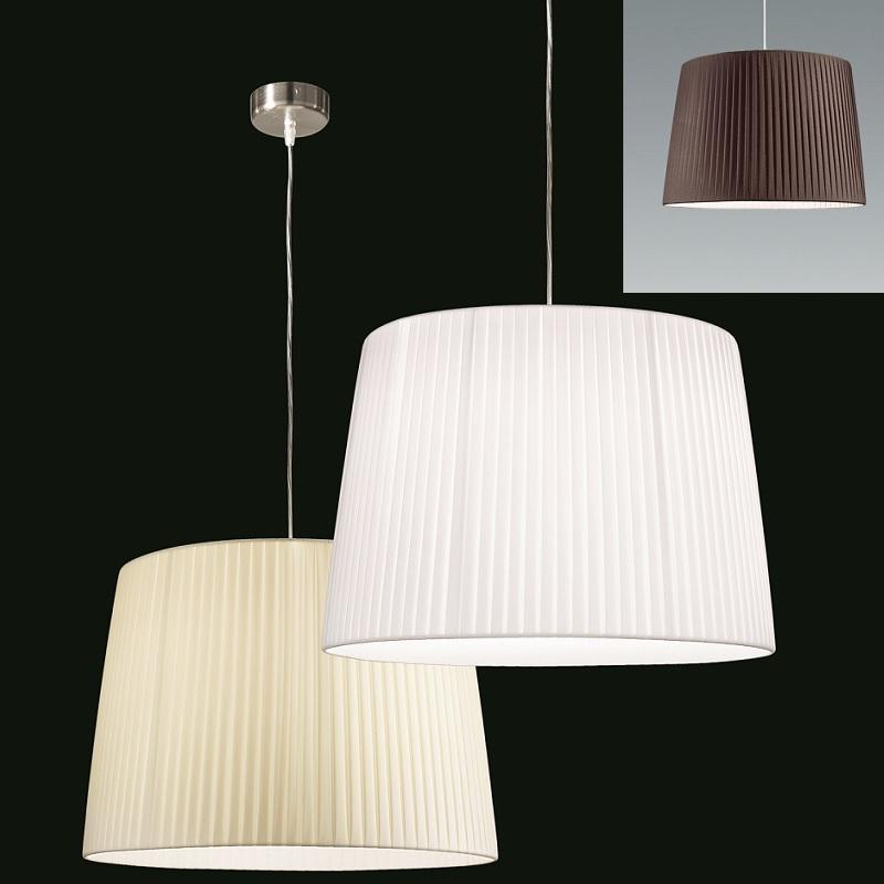 pendelleuchte mit plissee schirm 50 cm in 3 farben wohnlicht. Black Bedroom Furniture Sets. Home Design Ideas